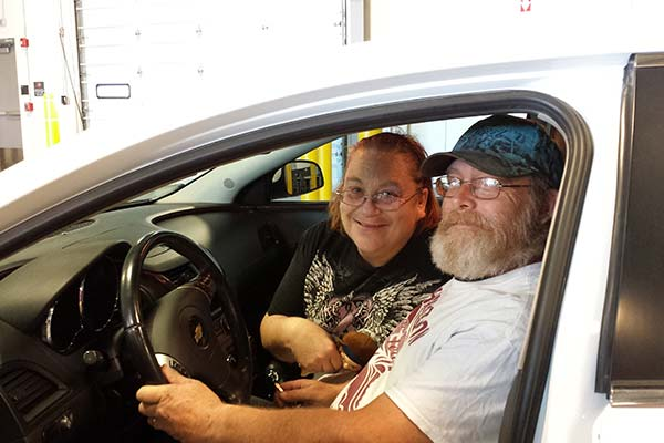 Happy Couple in Car